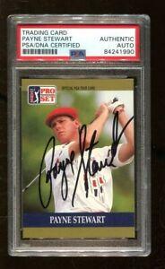 Payne Stewart Signed 1990 Pro Set #20 Autographed PGA Golf PSA/DNA *1990