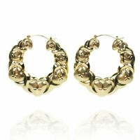 HUGS & KISSES x & heart hoop earrings 18k Layered real gold filled 70mm