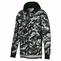 PUMA Rebel Camo Men's Full Zip Fleece Hoodie Men Sweat Basics