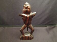 Vintage African Carved Ebony Wood Sculpture Monkey