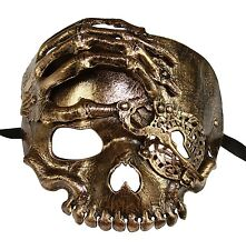 Men/'s Vintage Skull Masquerade Mask Pirate of The Caribbean Silver Mask GM006SL