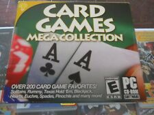 CARD GAMES MEGA COLLECTION (PC CD 2015) New Sealed