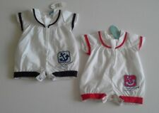 Baby boys clothes spanish style sailor romper  0-9 months