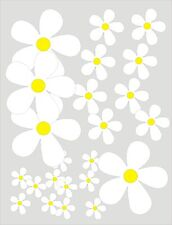 25 DAISY FLOWER STICKERS Car / Wall Art / Home Decals - SEVERAL COLOURS