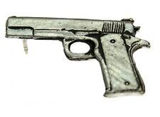 """(#M411) COLT 1911 A1 9MM PISTOL Pewter Vest / Hat Pin 1.75"""" x 1"""" Biker Vest"""
