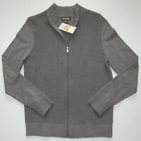 Michael Kors Men's Full Zip Cotton Waffle Knit Cardigan Sweater KR56JX7DP3 NWT
