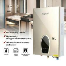 Ridgeyard 16L Natural Gas Tankless Water Heater Instant On Demand Whole House