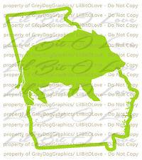 Solid Hog Boar over Georgia GA Outline Hunter Vinyl Decal Sticker Hunting