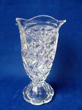 Edwardian Era Pressed Glass Flower Vase