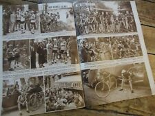 MIROIR SPORT LOT 3 NUMEROS TOUR DE FRANCE 1937-1938-1939 BARTALI FONTENAY