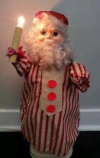 "Vintage Santa With Candle Motionette Moving Animated Motion 24"" Tall LOUD MOTOR"