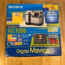 Sony Mavica MVC-FD88 1.3MP Digital Camera - Metallic Gray New Open Box