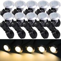 10pc Deck Garden Mall Landscape Warm White LED Lights Low Voltage Waterproof