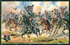 Militari VI Reggimento Lancieri di Aosta Custoza Cervi cartolina QT7950