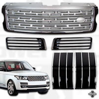 Black & Silver Front Grille & Vent Kit for L405 Autobiography Style