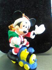 Grolier Collection Ornament Disney Santa Mickey on Train