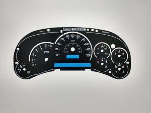 Escalade Style Gauge Face Overlay Silverado Sierra 1500 2500 Gas 2003 04 05 km/h