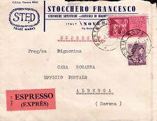 """BUSTA ESPRESSO 1963  """" STOCCHERO FRANCESCO CERAMICHE ARTISTICHE """" NOVE C10-441"""