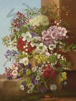 "PAINTING DIETRICH 1877 STILL LIFE FLOWERS 12x16 "" POSTER ART PRINT HP3254"