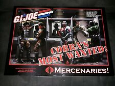 Gi-joe Cobra's Most Wanted Limited Edition Mercenaries  Empty Box Only 2006