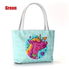 Women Girls Unicorn Handbag PU Leather Shoulder Bags Tote Cosmetics Storage Bag
