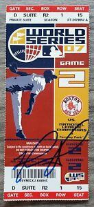 David Ortiz Signed 2007 World Series Ticket Game 2 MVP Red Sox Legend Big Papi