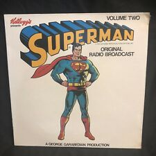 Superman Original Radio Broadcast Record LP 1974 Sealed Volume Two