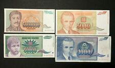 Yugoslavia Dinara Circulated Banknote World Paper Money Currency Bill Notes