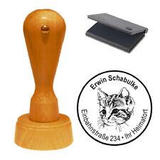 Stempel « Katze 04 » Adressenstempel Motivstempel Holzstempel