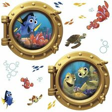 RoomMates Nemo and Friends Portholes Peel & Stick Appliques RMK2060GM