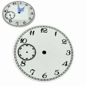 37MM Blue Watch Hands Dial without Luminous Watch Dial for ETA6497 ST3600 Watch