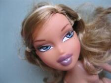 "Bratz 10"" NIGHTY NITE Sleepover PJs YASMIN NUDE DOLL-LOVELY HAIR-Mole-Tan Skin"