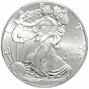 (1) 1/10 Ounce .999 Pure Silver BU Round ☆ Walking Liberty Type ☆ Free Shipping