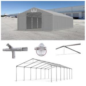 LAGERZELT 3x4 - 6x12m Garagenzelt Industriezelt PVC 560g/m2 Weidezelt Lagerhalle