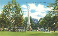 Postcard Memorial Park Hazleton Pennsylvania