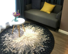 Geometric Ray Design Round Mat Bedroom Carpets Living Room Mats Kids Soft Rugs
