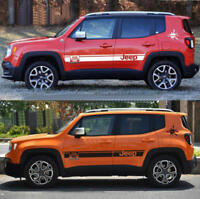 2 PCS Vinyl Auto Side Skirt Stripe Car Sticker Decal For Jeep Renegade Compass