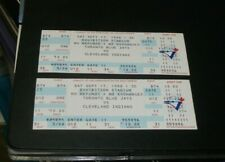 SEPT.17,1988  TORONTO BLUE JAYS vs CLEVELAND INDIANS ENTIRE TICKET- A PAIR! WOW!
