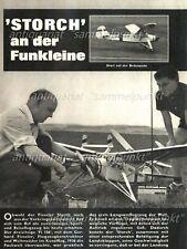 Bauplan Motorflugmodell Fieseler Storch - Original von 1965