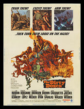 THE DIRTY DOZEN RARE '67 DELUXE 30x40 MOVIE THEATER DISPLAY POSTER -NEVER FOLDED