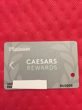 New listing Caesars Rewards Platinum Card Prefix #157 Expires 01/2020 ©�2019