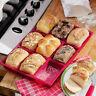 9 Cavity Silicone Bread Mold Cake Pan NonStick Bakeware Mold Baking Tin Tray
