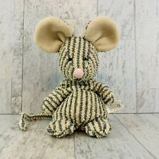 Vintage Russ Home Buddies Sniffy Mouse Plush Striped Terry Stuffed Bean Bag