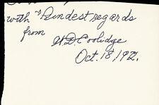 WILLIAM D. COOLIDGE - AUTOGRAPH SENTIMENT SIGNED 10/18/1972