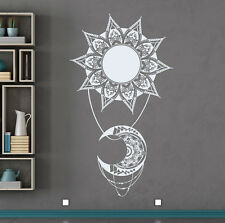 Moon Sun Wall Decals Mandala Decal Boho Indian Decor For Home Bedroom FD133
