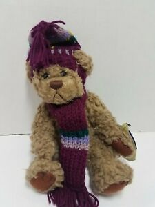 The Brass Button Collectibles Pickford Teddy Bears Dooley Plush Vtg Winter Hat
