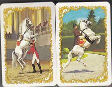 Playing Swap Cards  GENUINE 2 only single PIATNIK PERFORMING HORSES