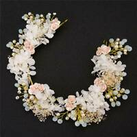 Luxury Prom Wedding Hair Accessories Jewelry Bridal Flower Pearl Headpieces Q