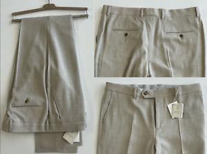 Brunello Cucinelli Luxury Leisure Fit Suit Trousers Classic Pants 54