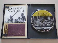 Seven Samurai Criterion Dvd w/ Inserts Toshiro Mifune Akira Kurosawa Classic